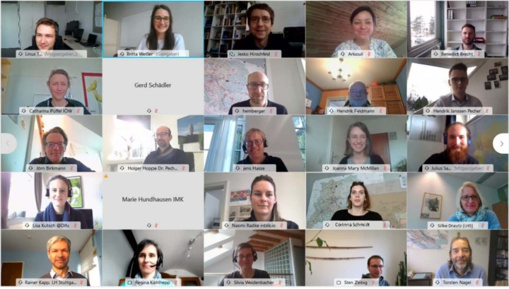 Das ISAP-Projektteam beim digitalen Projekttreffen am 21. Januar 2021