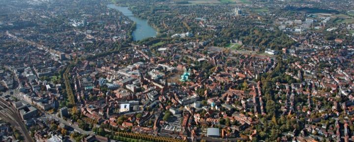 Luftbildaufnahme der Altstadt Münster
